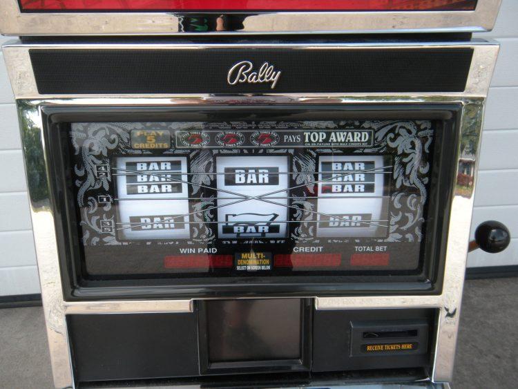 black slot machine